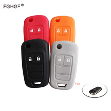 FGHGF Silicone Car Key Cover Case for Opel Astra Corsa ADAM S Antara Meriva Zafira 2Buttons