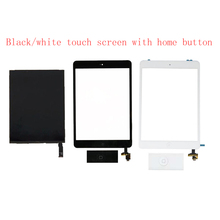 For iPad Mini 1 1st Gen Generation LCD Display Panel Screen+ Black / White Touch Screen Sensor + IC Connector Home Button Flex