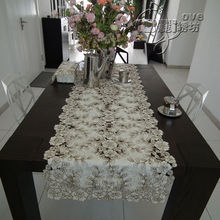 Rustic cloth embroidery fashion dining table cloth coffee table runner table mat cutout cover towel