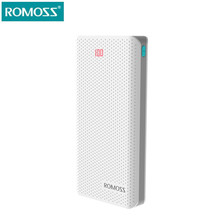 Buy ROMOSS Sense 6 Power Bank 20000mAh LED Power Supply Portable Charger External Battery powerbank fast charging Tablet Phones for $32.44 in AliExpress store