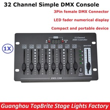 NEW 32 Channel Simple DMX Controller Stage Lighting DJ Equipments DMX Console For LED Par Moving Head Spotlights DJ Controller(China)