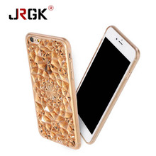 JRGK hot 3D Stereoscopic Diamond TPU Soft Phone Case Luxury Bling Crystal Cell Phone Case For iphone  6 6s 6 Plus