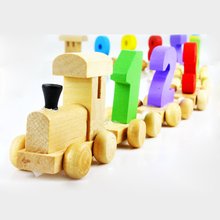 Montessori Educational Toy Understand Digital Train Children To Environmental Protection Wooden Toys Train