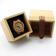BOBO BIRD Watch Box Solid Wood Primary Colors Wooden Box Top Quality Square Jewelry Set Storage Box(China)