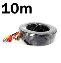 10M 33FT Power Video Audio CCTV Home Surveillance Camera Cable BNC RCA