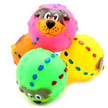 Buy Rubber Dog Toy Ball Phonate Squeaky Chew Squeaker Playing Toy Dogs Pet Products Puppy Small Dogs Toys Perros Mascotas for $1.11 in AliExpress store