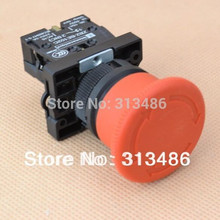 22mm emergency stop switch mushroom e-stop push button switch with NC contact