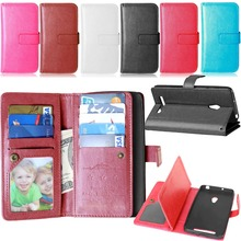 Zenfone 5 Wallet Leather Case For Asus Zenfone 5 A501CG A500CG Phone Cases with Card Holder Stand Design Mobile Bag Cover(China)