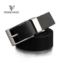 Buy TESHI PATE 2018 new casual jeans man belt Designers rotating needle buckle luxury men's Cowskin double-sided design Fashionable for $13.42 in AliExpress store