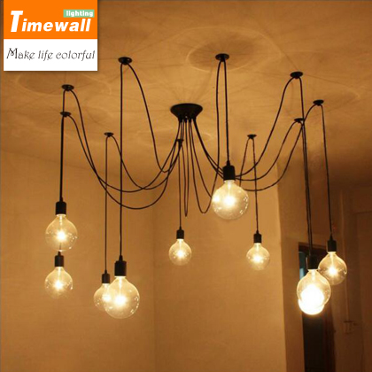 Pendant Lights Luminaire Loft Industrial Retro Cafe Bar Lamp Hanging Office Long The Heavenly Maids Scatter Blossoms. Spider<br>