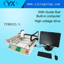 Automatic TVM802A-S Vision Multifunction Small Pick and Place Machine With 27 Smt Stick Feeders Surface Mount System