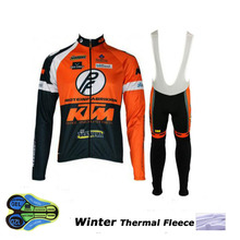 KTM Winter thermal fleece cycling jersey ropa ciclismo invierno hombre sport mtb bike winter cycling clothing bicycle men style(China)