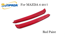 SUNFADA Chrome/Paint Front Grille Grill Cover Trim Moulding For MAZDA 6 ATENZA 2013 2014 2015 2016 2017 Exterior Accessories