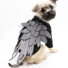 2017 Cute Embroidery Wings Pet Clothes Cool Luxury Dog Coat Punk Puppy Cat Clothes Dog Costume Spring/Autumn Coat& Jackets S-2XL(China)