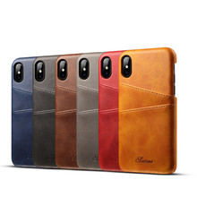 Slim PU Leather case for iPhone X cases Back Cover Protective Card Holder Wallet Phone Bag for iPhone X Cases(China)