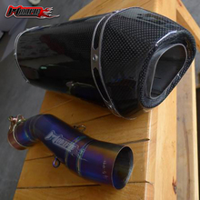 Modifie high quality Carbon exhaust pipe for kawasaki ZX10R  2005 2006 2007 2008