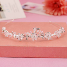 Factory direct creative bridal accessories hair bands fashion alloy rhinestone tiara crown headband supply wholesale trade