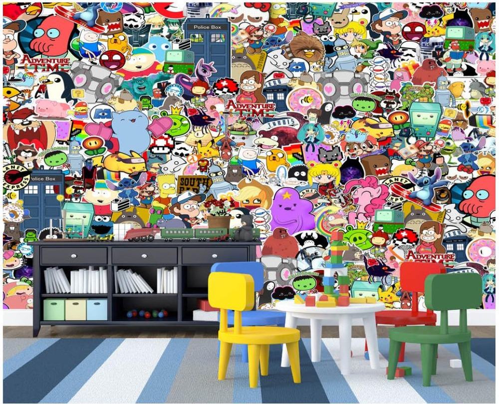Compare prices on cartoon wall mural online shoppingbuy low custom 3d photo wallpaper 3d wall murals wallpaper cartoon animal graffiti wall children room background wall amipublicfo Images