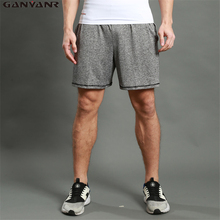 GANYANR Brand Running Shorts Men Sports Basketball Fitness Gym Crossfit Gay 2017 Quick Dry Sexy Pouch Solid Spandex Exercise