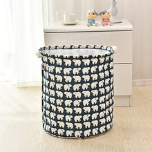 High Qaulity Waterproof Canvas Sheets Laundry Clothes Laundry Basket Storage Basket Folding Storage Box(China)
