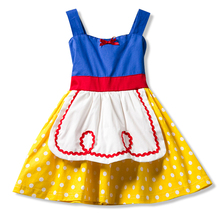 Aini Babe Fairy Style Dress Little Girl Cosplay Party Costume Stage Outfits For 1-5 Years Girls Red Ribbon Sleeveless Dress