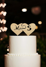 Personalized Initial Cake Toppers Monogram Cake Topper with Heart, Custom Cake Topper for Wedding Decoration Party Mariage Favor