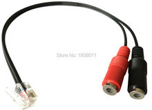 PC Computer Stereo Headset Dual 3.5mm to Cisco Phone Rj9/Rj10 Phone Adapter Cisco Ip Phone 7940 7941 7960 7961 7945 and More(China)