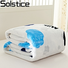 Solstlce Brand Bedding winter fleece Cartoon dairy cows thicker crochet wrapping craft cotton throw blankets for beds king size