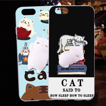 For HTC one E9 E9+ E9 plus Case Squishy Finger Pinch 3D Cute Cat Seal Silicone Phone Cover Shell Coque For HTC one M10 / HTC 10