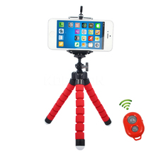 Mini Flexible Tripod+Bluetooth Remote Shutter+Phone Holder Clip for Gopro Hero 3 4  for iPhone 6 7 Huawei Phone s7 s8
