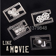 40 PCS/LOT  Like A Movie Bookmarks Camera Film Reel Slate Movie Lighting Metal Book Mark