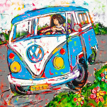Diamond Embroidery bus picture 5D DIY Diamond Painting Cross Stitch girl scenery Patterns Rhinestone Mosaic Paintings Wall Decor