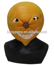 Deluxe Christmas New Year Carnival Fruit Cosutme Accessory Latex Orange Mask