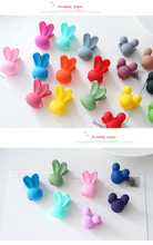 25pcs/lot 0.8 Inch Korea Hair Accessories Baby Girls Hairpin Small Rabbit hair Clips Bangs Hair Claws For Children 667