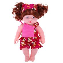 30cm Baby Girl Doll Soft Plastic Lifelike Fashion Newborn Baby Speaking Doll Toy Baby Educational Kids Gifts(China)