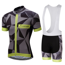Cusroo 2017 Summer Short Sleeve Cycling Set Mountain Bike Clothing Breathable Bicycle Jerseys Clothes Maillot Ropa Ciclismo #02(China)