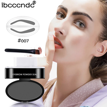 High Quality Eyebrow Powder Seal Eyebrow Shadow Set Waterproof Eyebrow Stamp Natural Shape Brow Stamp Powder Palette Delicated