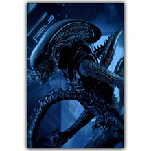 Aliens VS Predator Skiing Games Fi Alien Movies TV Movie Film Posters Poster Printing Silk Fabric DY474(China)