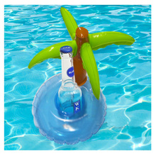 50pcs/lot Newest  Inflatable Palm Tree Beer Drink Cup Inflatable Floating Coconut Cup Holder Coke Beer Beverage Cup Pool Toys