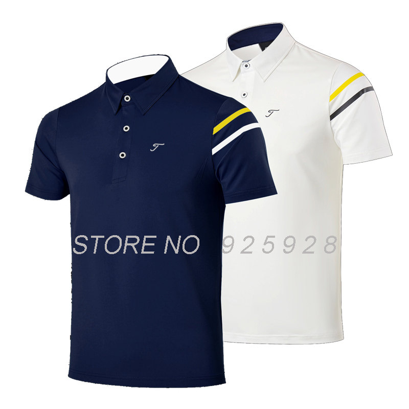 men golf shirts summer outdoor training garment sports striped shirts short sleeve polo tops golf wear brand T shirt<br><br>Aliexpress