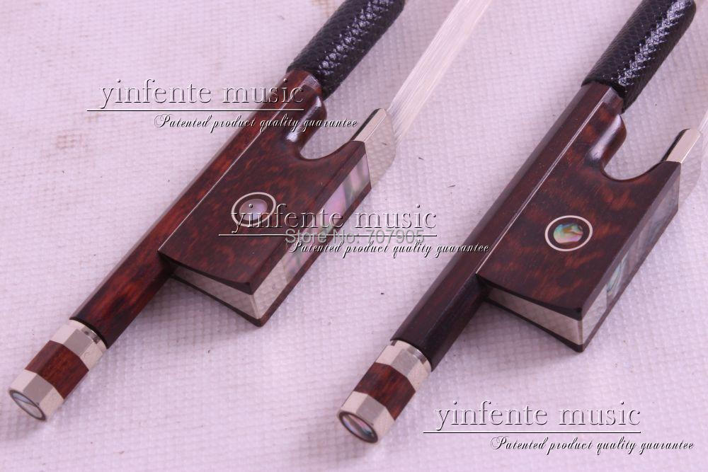2  pcs Snake Wood Violin Bow 4/4 Straight Pretty inlay High Quality # R 13<br><br>Aliexpress