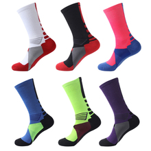 Leisure socks Professional mens elite socks Fashion Thicken Towel sox For Men Unisex Soft Comfortable Hit color long Socks(China)