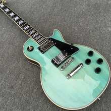 New arrive Custom Shop Lake Blue Electric Guitar with Ebony fretboard, High quality LP Guitar, All Color are Available,Wholesale