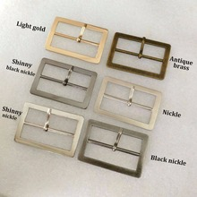 DIY20pcs/a lot of internal width 45mm metal alloy buckle silver/nickel/ black nickle/bronze/light gold high polished belt buckle(China)
