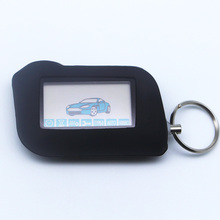 Russian Version Keychain Starline A93 Remote Controller+Silicone Case For Two Way Car Alarm Starline A93 Twage Keychain alarm(China)