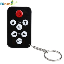 Binmer High Quality 2017 Portable TV RC Mini Keychain Universal Remote Control for Philips for Sony for Toshiba Jun27X20