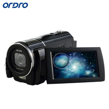 ORDRO Digital Video Camera HDV-F5 Portable 1080P 30fps Camcorder HD Touch Screen Camera+Super Wide Angle Lens and Remote Control(China)