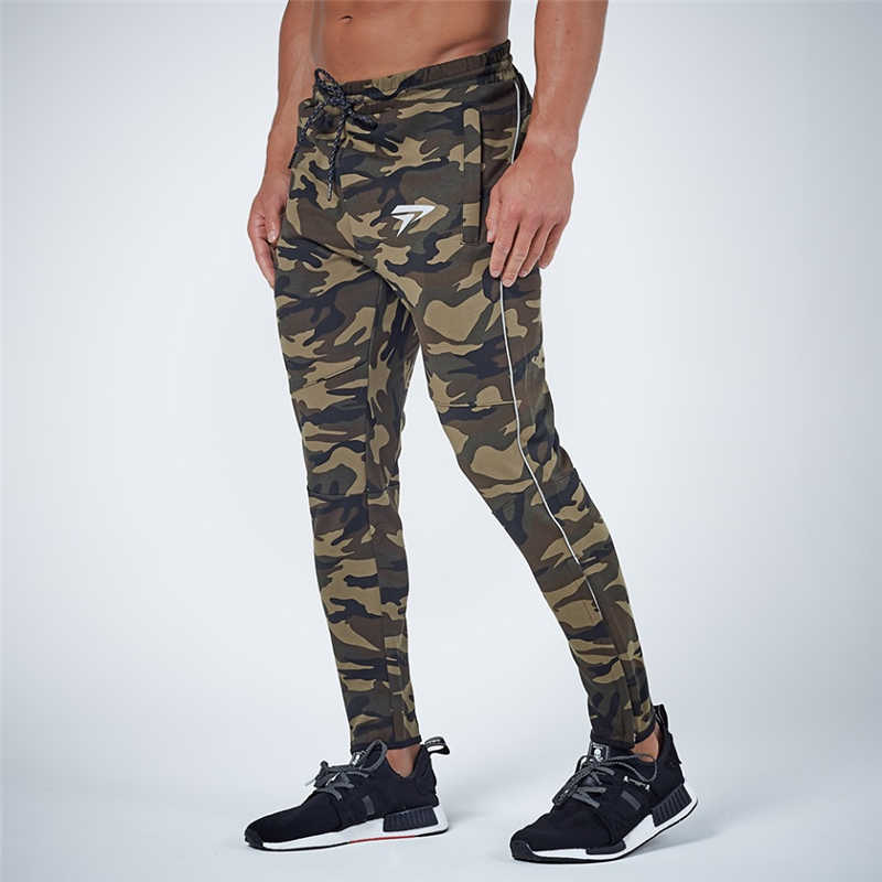 GYMOHYEAH NEW pants Men's High quality workout bodybuilding clothing casual camouflage sweatpants joggers pants skinny trousers 20