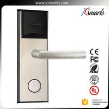 Factory direct sale Hotel door locks security keyless lock swiping card for hotel access control system