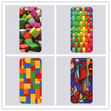 2016 Newest artist Floral plastic phone Case For iphone 4 4s 5 5c 5s 6 6s plus Colorful square Painted HEXA SWAP Back Cover